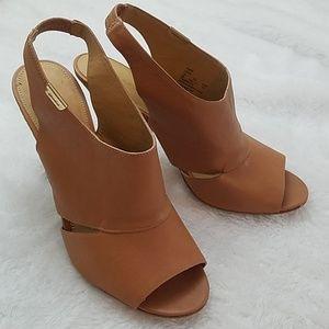 Coach Lexia Sz 9 soft grain leather heel in Ginger